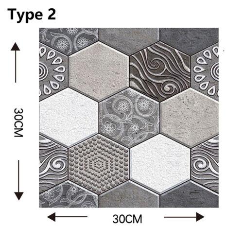 3D Tiles Sticker Wall Decals Geometric Shape Crashproof Wallpaper Home Decors