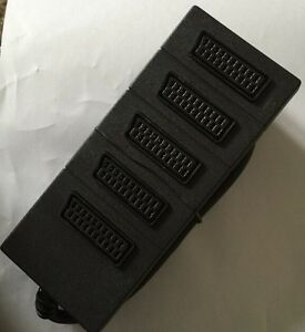 Gold 5 Way Scart Switch Box Splitter Adaptor 51 Joiner eBay