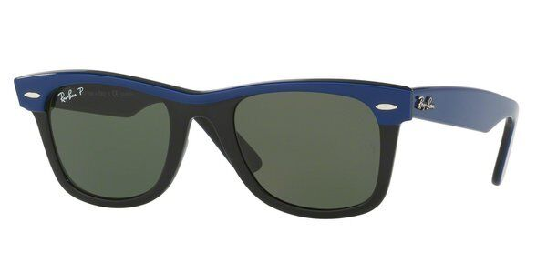 739bcf0fc6 Ray-Ban Wayfarer Sunglasses Polarized Rb2143 112458 Black Blue 50 Authentic  for sale online