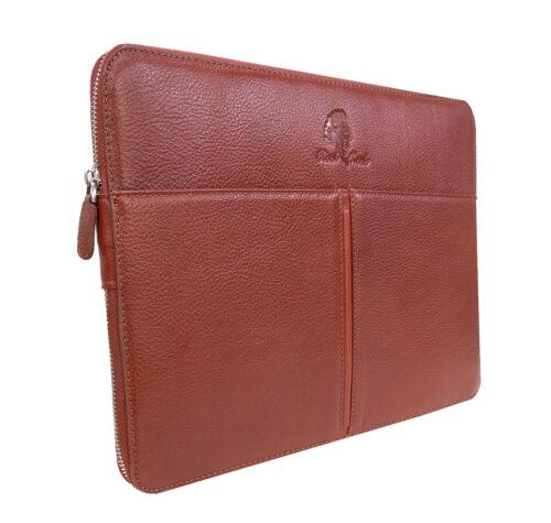 Rock Creek Leder Laptop-Hülle Notebookhülle Laptoptasche 13 Zoll Notebooktasche