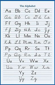 Image is loading ALPHABET-HANDWRITING-CURSIVE-POSTER-24-x-36-INCH