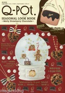Q-pot Seasonal Look Melty Strawberry Chocolate Magazine Collection 2016 w Bag