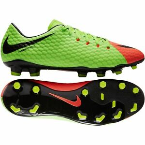 best quality release info on buy sale Details about Nike Hypervenom Phelon III FG 2017 Nike Skin Soccer Shoes New  Green - Orange