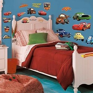 DISNEY CARS 19 BiG Piston Cup Wall Stickers Lightning McQueen Room ...