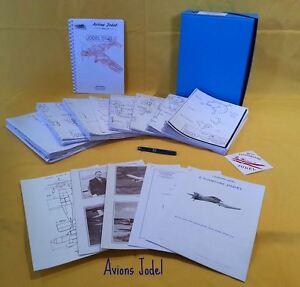 LIASSE-DE-PLANS-AVION-JODEL-D9-034-BEBE-JODEL-034