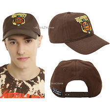 Five Nights At Freddy's Pizza Brown Security Curve Brim Snapback Hat Ball Cap