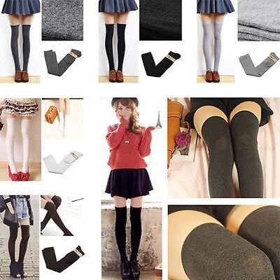 Women's  Long Sexy Half Knee Cotton Socks Thigh High Soft Cotton Silk Stockings