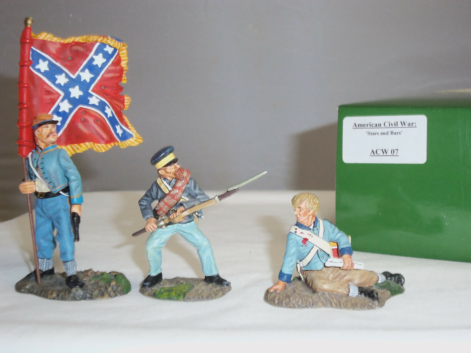 KING AND COUNTRY ACW07 STARS AND BARS AMERICAN CIVIL WAR TOY SOLDIER FIGURE SET