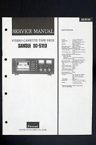 sansui sc 5110 original stereo cassette tape deck service manual rh ebay com au
