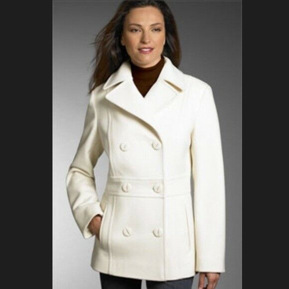 Kenneth Cole Reaction WLBL Pea coat - Winter White - - - Size 2 db5d9e