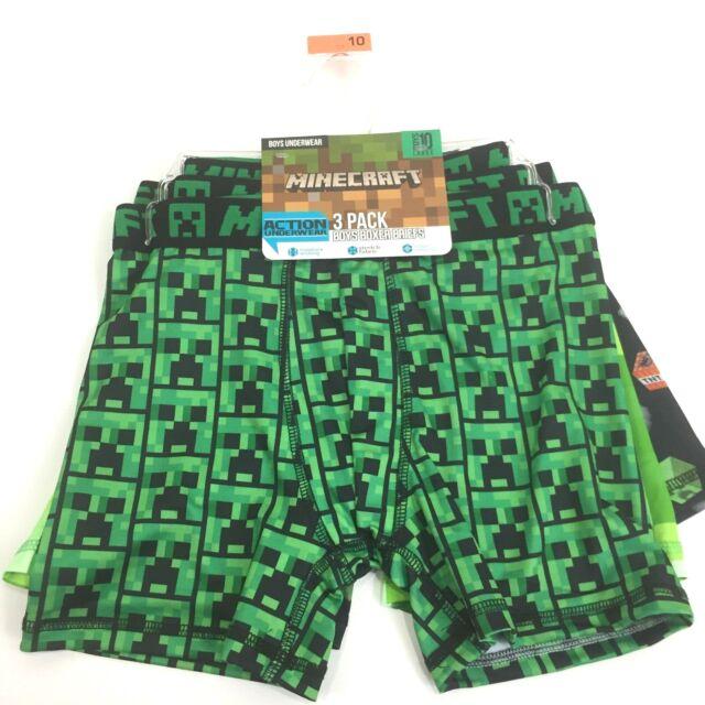 6 Size S Boys Underwear  Boxer Briefs 3-Pk Minecraft