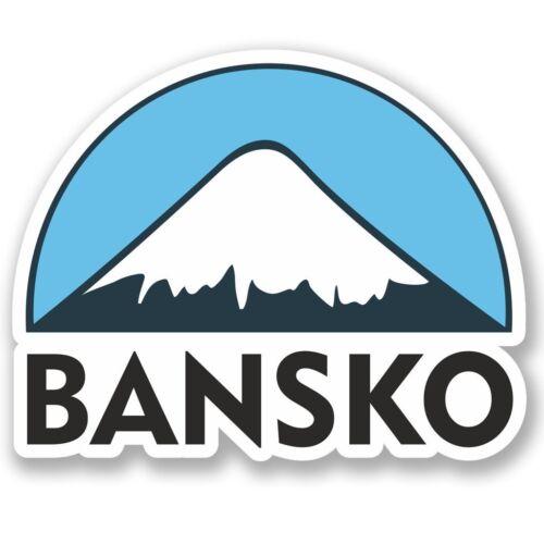 2 x Bansko Ski Snowboard Vinyl Sticker Laptop Travel Luggage Car #5125