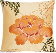 Orange Cushion Cover Osborne & Little Fabric Botan Embroidered Silk Pillow Case