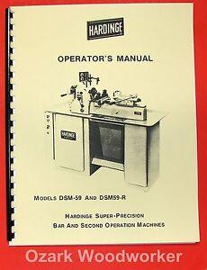HARDINGE-DSM-59-DSM59-R-DSM59-Lathe-Operator-039-s-Manual-0331