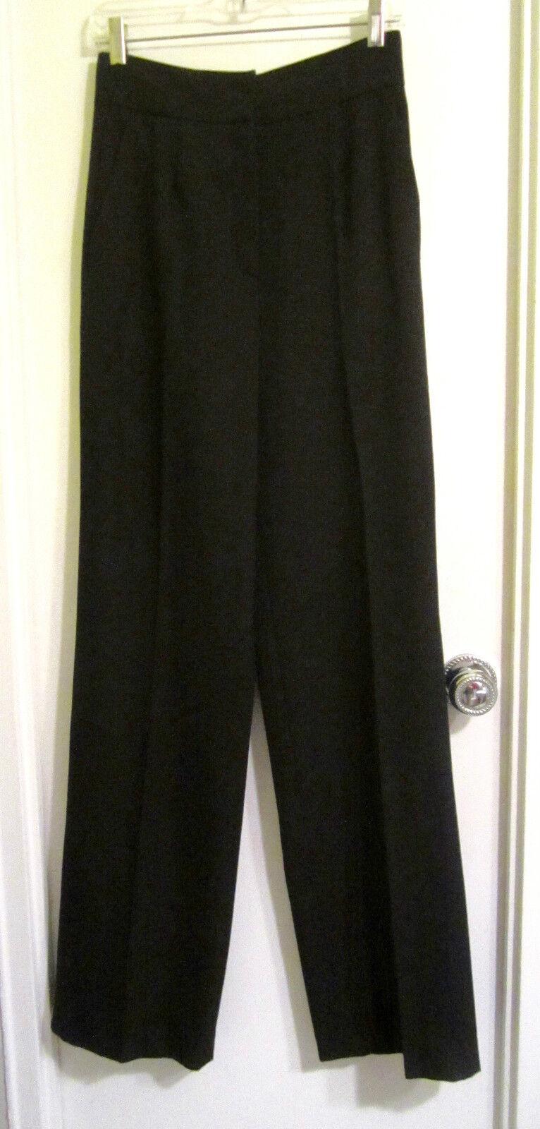 Prada MILANO 42 Pantalones Pantalones S  6 Negro de Lana de cintura alta Italia  te hará satisfecho