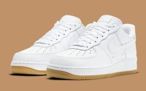 Nike Air Force 1 '07 Shoes White Gum Sole DJ2739-100 Men's NEW