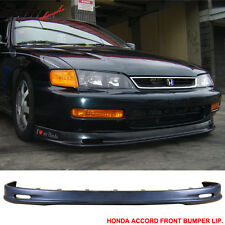 96-97 Honda Accord Mugen Style Urethane Front Bumper Lip Body Kit PU 96