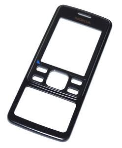 Original-Nokia-6300i-vorderes-Gehaeuse-Front-Cover-Schwarz-black