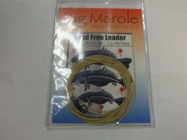 Rig Marole sin plomo Líder 1.5m M arena con anillo giratorio pesca de carpa