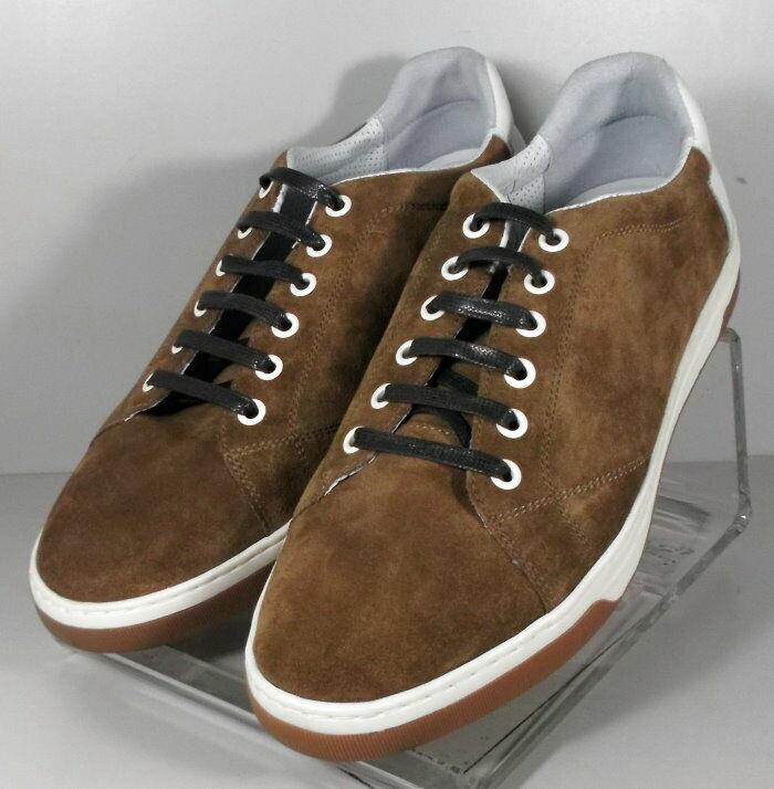252692 ES50 Men's shoes Size 11 M Brown Suede Lace Up Johnston & Murphy