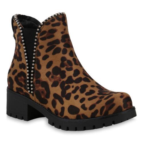 Damen Stiefeletten Chelsea Boots Modische Booties Prints 825223 Schuhe