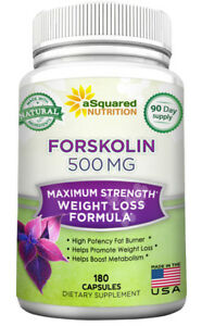 aSquared Nutrition Forskolin 500mg - 180 Capsules - 100% Natural Extract