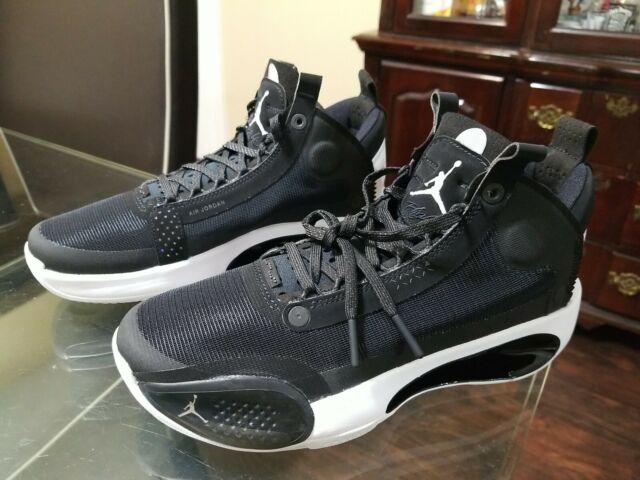 Nike Air Jordan 34 Size 5y Basketball Shoes Black Eclipse Bq3384-001
