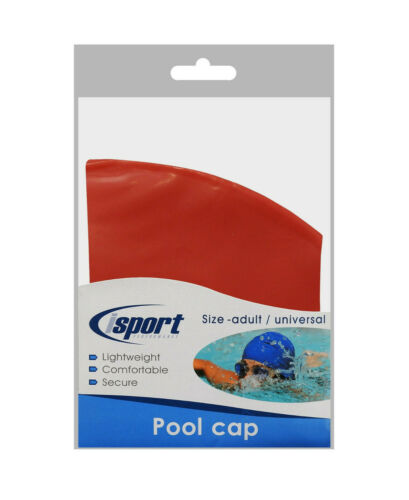 Details about  /Isport Adults Stretch Fit Durable Latex Swimming Pool Diving Cap Unisex 3 Colour