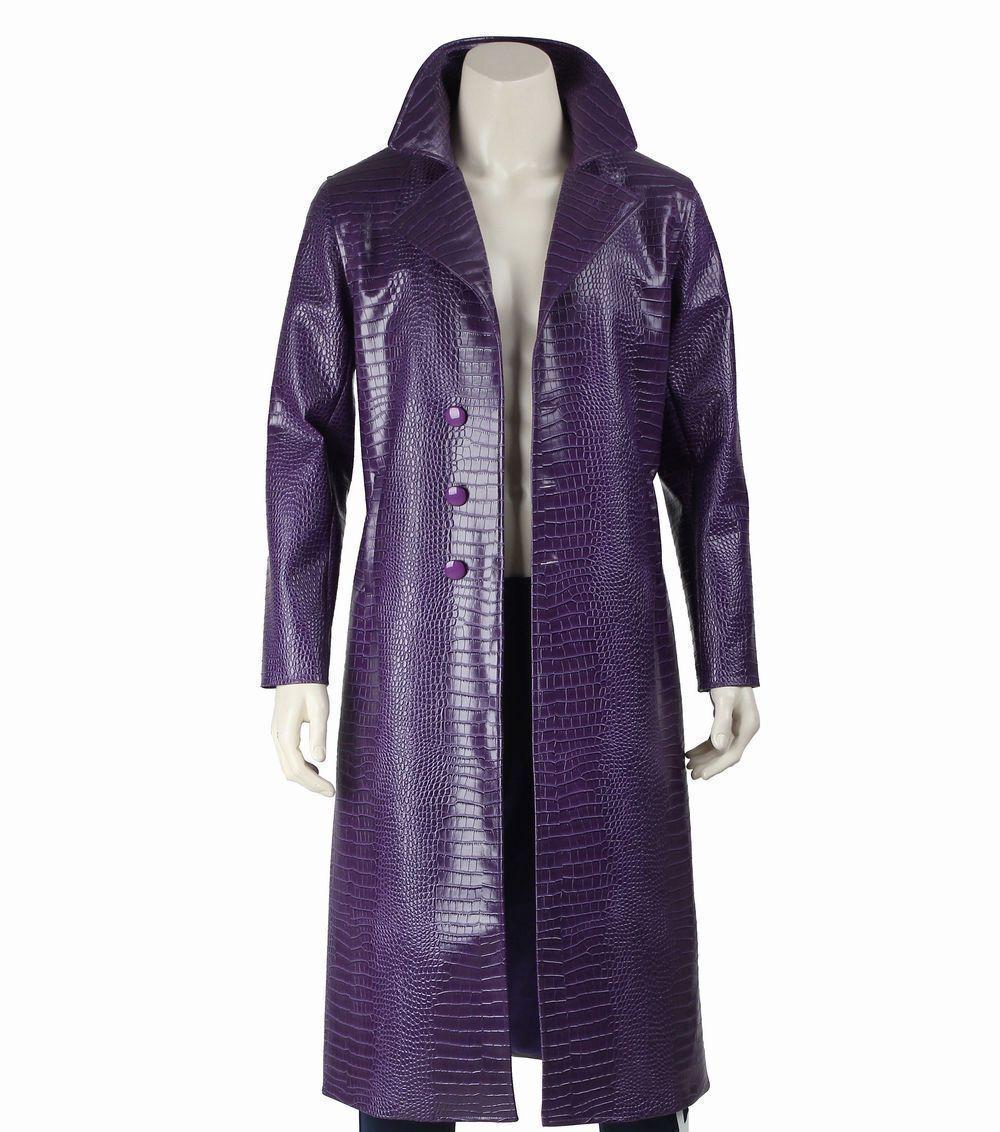 JaROT Leto Joker Costume Trench Coat Suicide Squad Crocodile Faux Leder Coat.