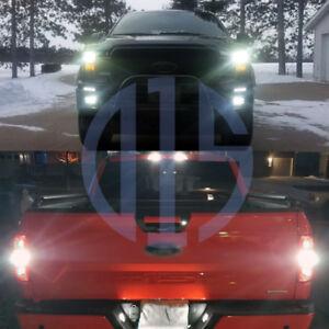 12-x-White-LED-High-Low-Beam-Fog-Reverse-Cargo-Tag-Light-Bulbs-For-2018-F150
