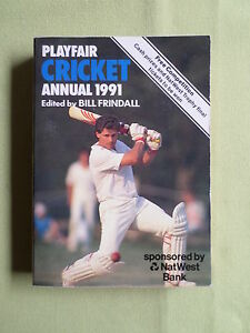 PLAYFAIR-CRICKET-ANNUAL-EDITED-BY-BILL-FRINDALL-1991-PAPERBACK