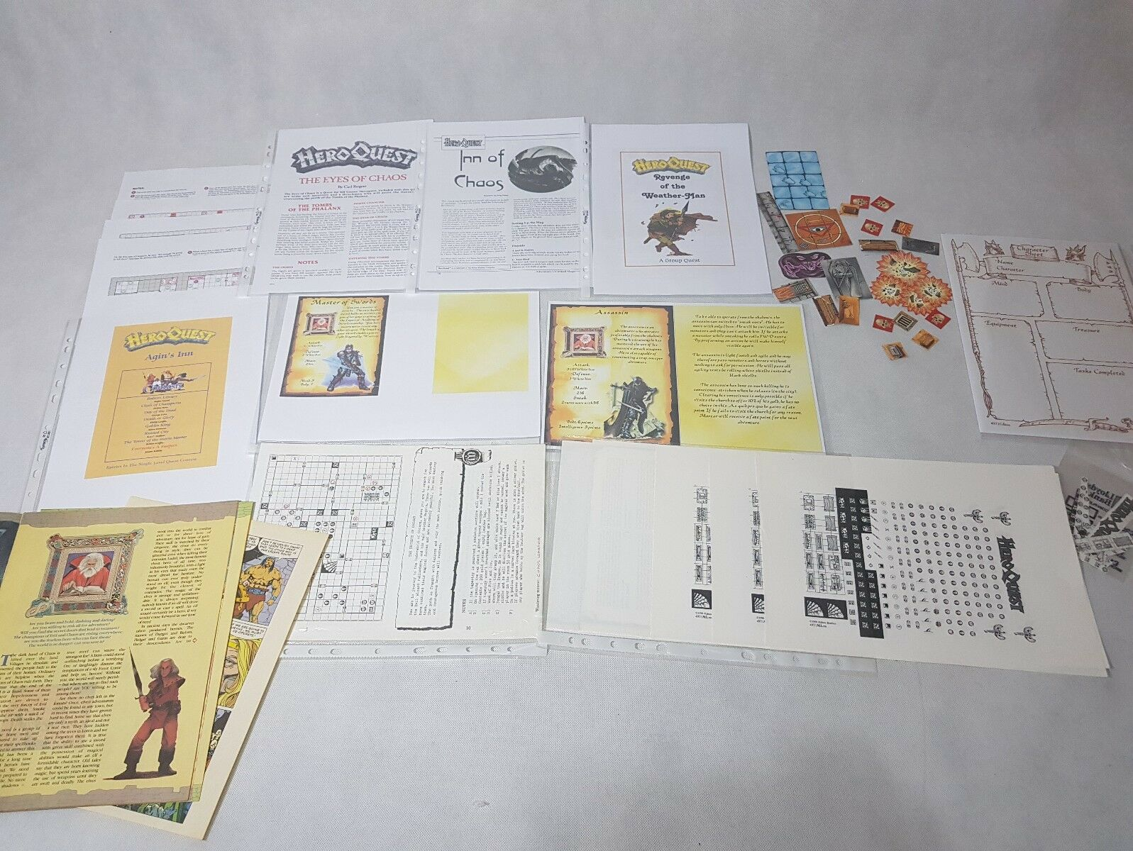HeroQuest Expansions   Adventures White Dwarf + Home made Hero Quest [ENG 1989]