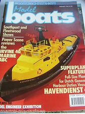 MODEL BOATS JANUARY 1990 HAVENDIENST 4 ROTTERDAM PLAN THOMAS JAMES KING LIFEBOAT