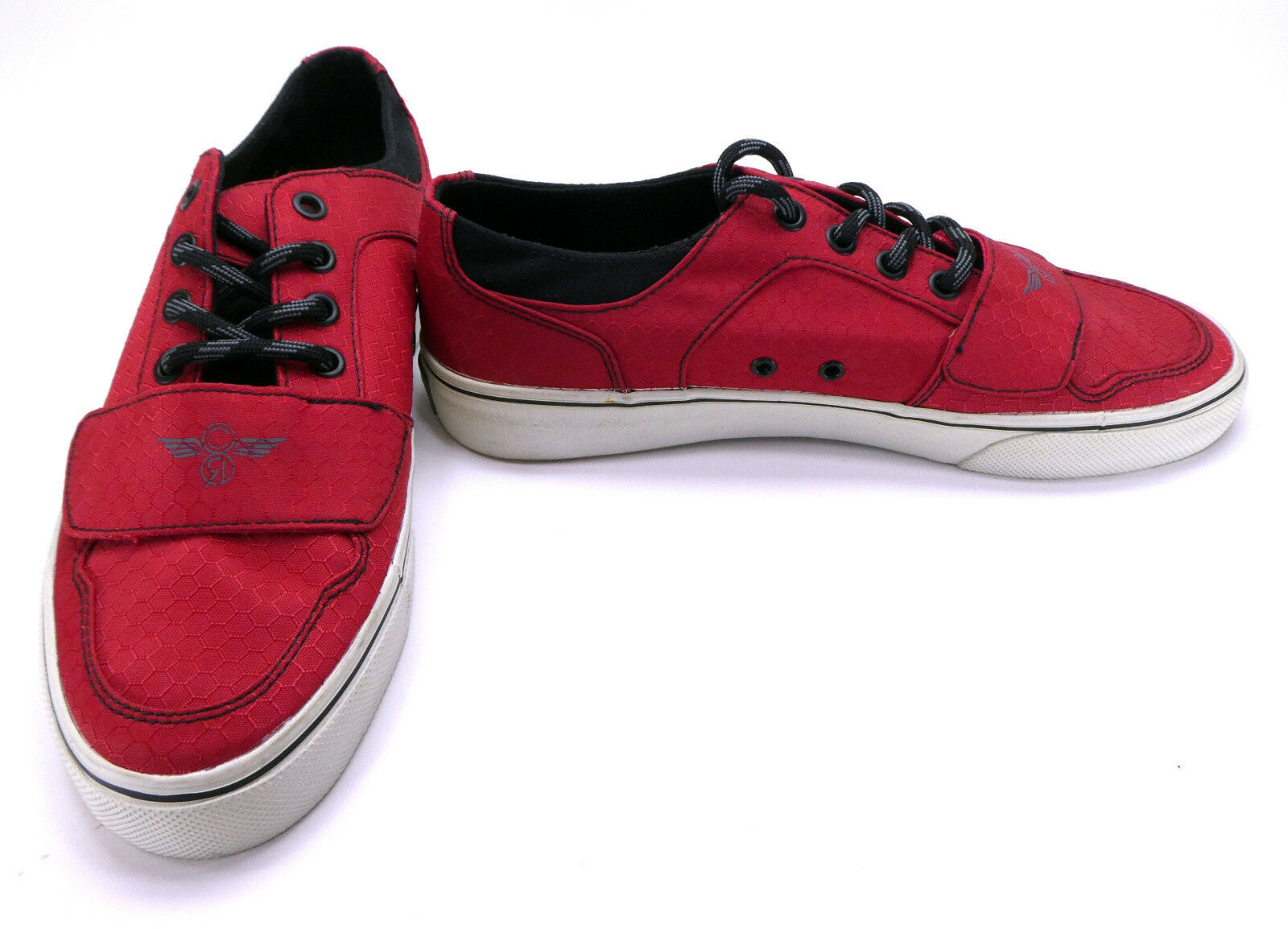 Creative Recreation shoes Cesario Lo XVI Hex Texture Red Black Sneakers Size 8