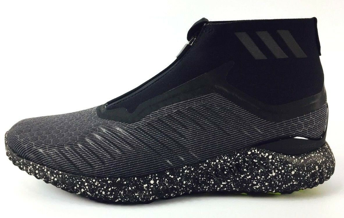 Adidas alphabounce 5,8 zip nero scarpe da corsa bw1386 nero zip / bianco nuovi uomini dc8a02