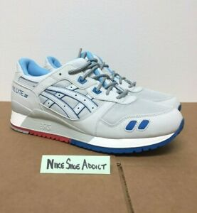 the best attitude b6ac6 22cf6 Details about Asics Gel Lyte III 3 Soft Grey H637Y-1010 Light Blue Red  Future Pack Suede Men