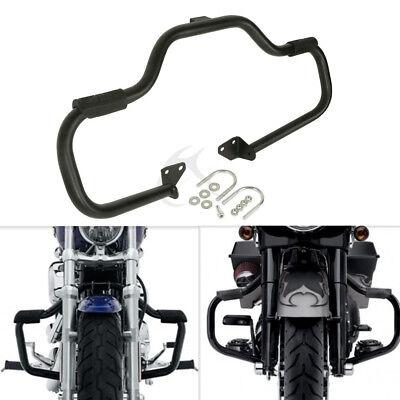 Engine Guard Highway Crash Bar Fit For Harley Dyna 06-17 FXDL 14-UP Black//Chrome