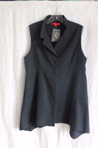 Shamask Cotton Long Vest Tasche 10 Black Taglia New W FPpFv