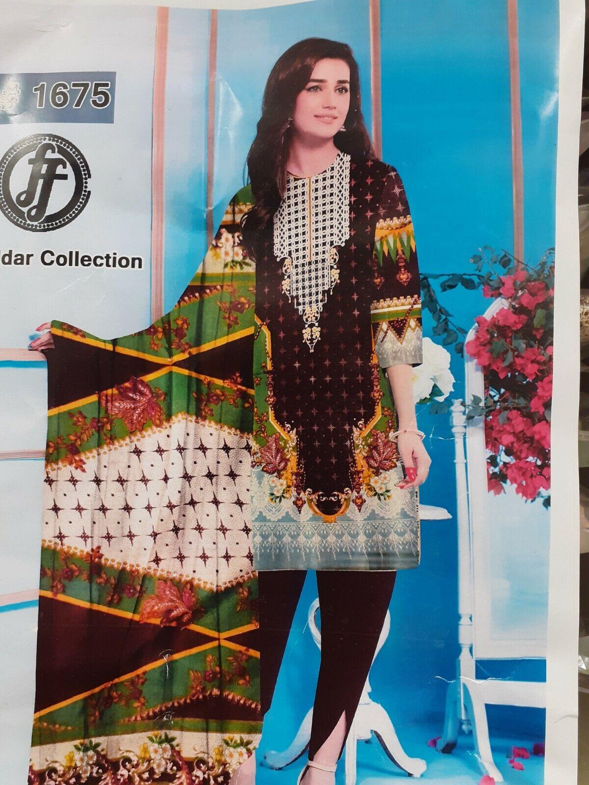 PAKISTANI KHADDAR DESIGNER D#1675 3 PCS SUIT WITH WOOL SHAWL STITCHED