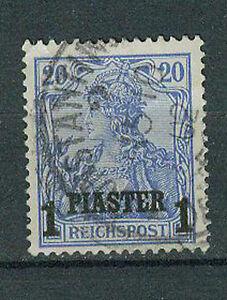 Deutsche-Post-in-der-Tuerkei-Briefmarken-1900-1-Piaster-auf-20-Pfennig-Mi-14II