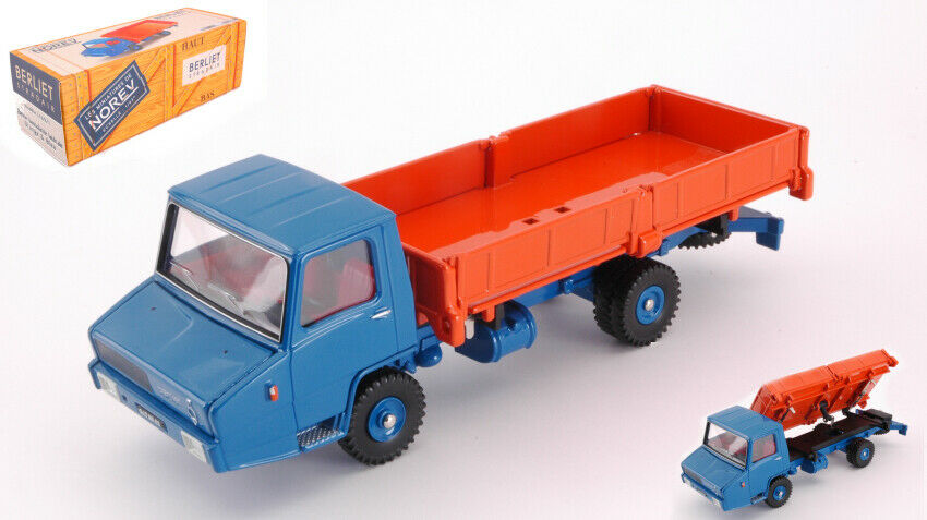 Berliet Stradair Benne Basculante Laterale Orange & Blau 1 43 Model NOREV