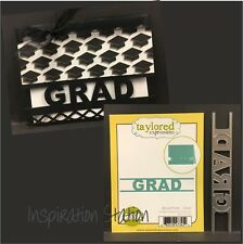 BLOCK PARTY GRAD metal border die TE1056 Taylored Express Dies graduation,words