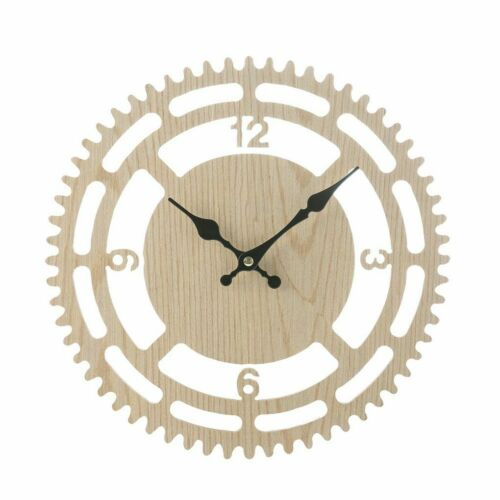 Wooden Roman Numerals Wall Clock 3d Home Decor Hanging Wood Round Diy