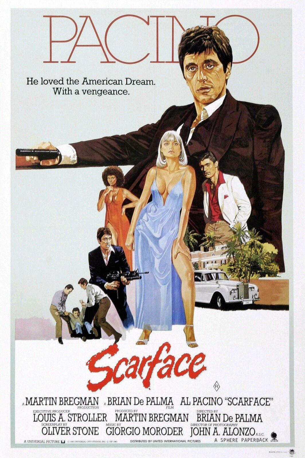 Al Pacino Scarface Home Decor Canvas Print, choose your Größe.