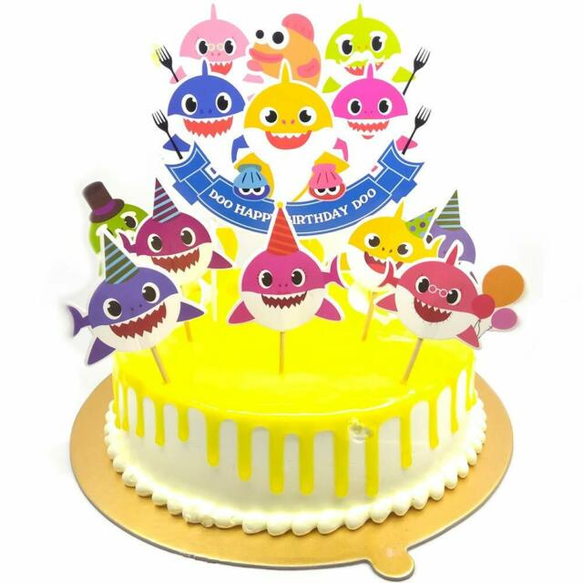 Excellent Baby Shark Birthday Cake Topper Cute Shark Cupcake Toppers For Funny Birthday Cards Online Fluifree Goldxyz
