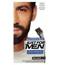 Just For Men Mens Facial Cara tinte Bigote Barba real de color de cabello negro M55