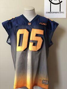 Details about Vintage Fubu 05 Football Jersey Blue Orange Gradient Official XL