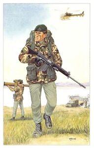 Postcard The Royal Marines, Blackshod Operations c1980's by Geoff White