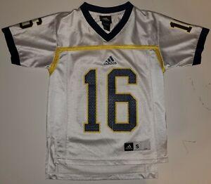 Michigan Wolverines #16 Adidas Football Small (8) Youth Jersey ...