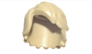 Lego 20 New Tan Minifig Hair Tousled with Side Part Pieces